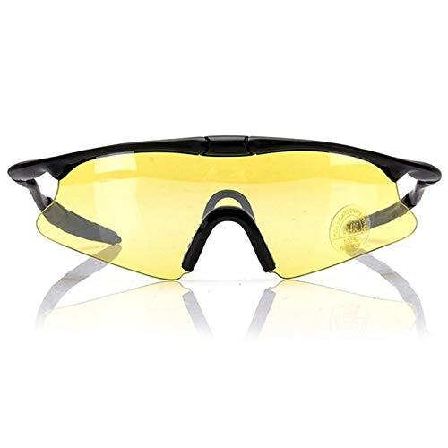 NSGJUYT Lentes Montar vidrios de la Motocicleta de los vidrios Hombres for Retro UV Motocicleta Motor al Aire Libre Ciclismo Esquí (Color : Yellow)