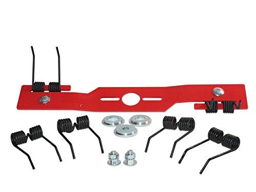 Kraftharke 40cm + 2 Paar Ersatzfedern Vertikutierer Moosentferner Entmooser