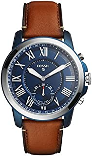 Fossil Hybrid Smartwatch - Q Grant Leather, Brown FTW1147