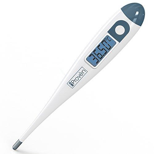 iProven BBT-113i Basalthermometer, Eisprung-Predictor, BBT für Fruchtbarkeits-Tracking, mit Hintergrundbeleuchtung, genau 1/100 Grad, hochsensitiv, für natürliche Familienplanung, BBT-113i
