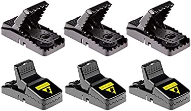 Famiry Mouse Trap, Best Small Mouse Traps That Work, Mice Traps Snap and Indoor Trap with Detachable Bait Cup, Effective and Sanitary Safe Better Mouse Cather - 6 Pack