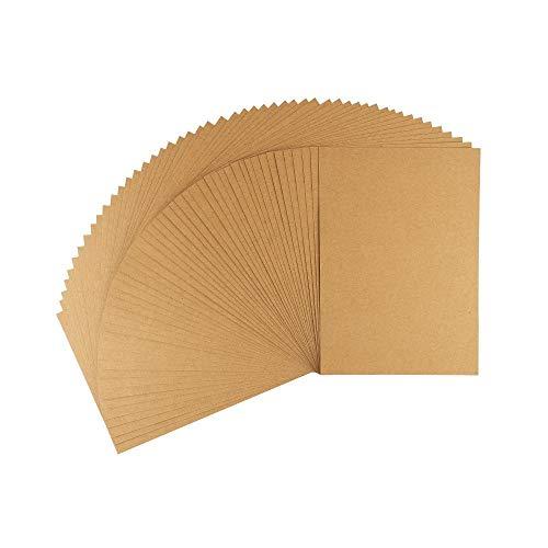 Ideen mit Herz Kraftpapier | Premium Kartonpapier | Bastelpapier | Kartonpapier | Kraftkarton | Pappe zum Basteln | 220 g/m² (Din A5 | 50 Blatt)