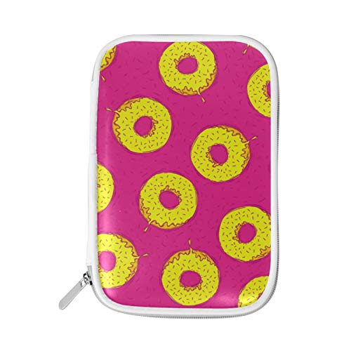 MERRYSUGAR Pencil Case Doughnuts Cute Pencil Pouch Bag Big Pencil Holder with Zipper for Girls Boys School Office Supplies Makeup Pourch PU Leather