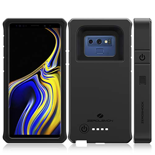 ZEROLEMON Galaxy Note 9 Battery Charging Case, ZeroShock 10000mAh Extended Rechargeable Battery Rugged Case with Full Edge Protection for Galaxy Note 9 - Black