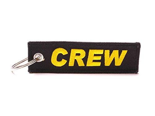 Wingdesign Schlüsselanhänger | Crew Edition | Farbe: Schwarz/Schrift: Gold | ca. 10 x 3 cm. | DE Händler