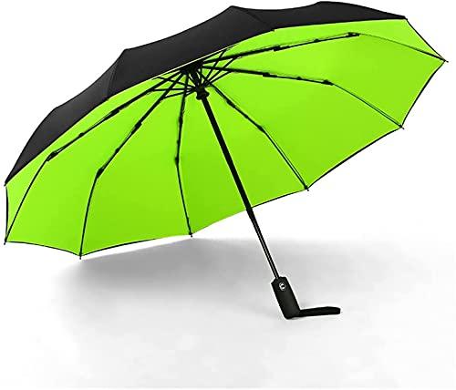 WDSZXH Giardino ombrelloni Doppio Strato Antivento Ombrello Automatico da Donna Femminile Maschio Dieci Osso Tre Pieghevoli Ombrello da Uomo Grande Pioggia ombrellone ombrellone ombreggiatura Il Sole