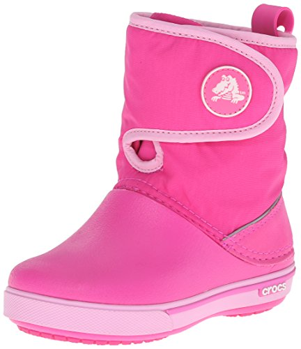 Crocs Crocband II.5 Gust Boot, Stivali da Neve Unisex-Bambini, Rosa (Neon Magenta/Carnation), 22-23 EU