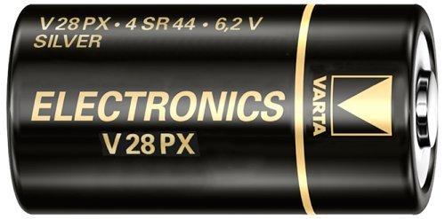 Varta 4SR44/v28px 6.2 V 1-BL d'oxyde d'argent 6.2 V Pile Non-Rechargeable – Piles (Oxyde d'argent, CYLINDRIQUE, 6,2 V, 1 pièce (s), 145 mAh, Noir)