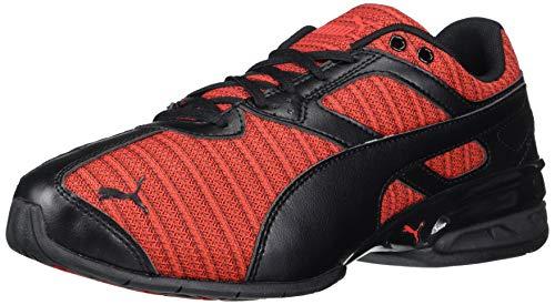 PUMA mens Tazon Cross Trainer, Black/High Risk Red, 10 US