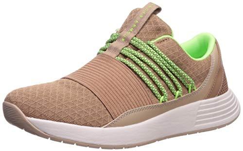 Under Armour Women's Breathe Lace Sneaker, Uptown Brown (200)/Blush Beige, 11