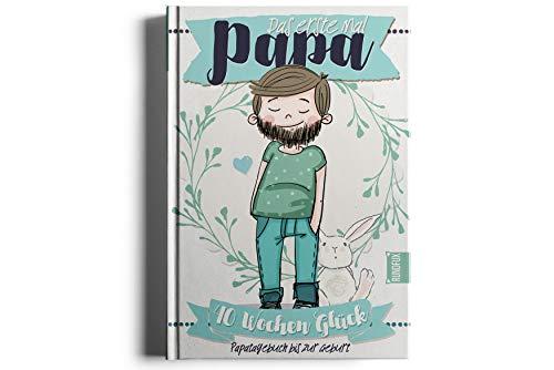 Das 1. Mal Papa - 40 Wochen Glück | Eintragealbum und Erinnerung für den werdenden Vater - Tagebuch für Daddy - Rundfux