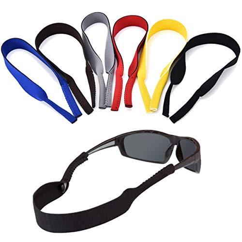ErenBros PACK 6 Cordón elástico neopreno para gafas de sol y gafas deportivas - Correa de neopreno para retención gafas - Cinta deportiva para gafas