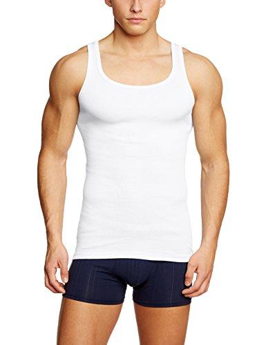 CALIDA Herren Athletic-Shirt Twisted Cotton Unterhemd, Weiß (Weiss 001), Medium (Herstellergröße: M = 50)