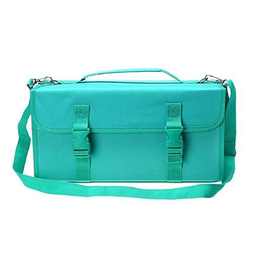 Hmg 2 PCS Marca táctil Pluma Bolsa Bosquejo titulares Bolsa de Almacenamiento Bolso de Pintura, Tamaño: 120 Caja de lápices de Color (Azul) (Color : Lake Green)