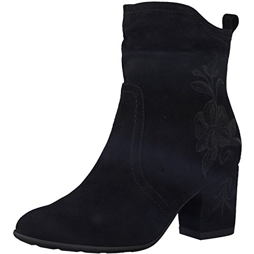 Jana BE Natural by Bottines pour femme en cuir nubuck Noir Largeur G - Noir - Noir , 40.5 EU