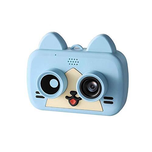 sknonr Super-Mini-Smart Kids-Kamera 2,0-Zoll-IPS-1080P HD Kinder wasserdichte Digitalkamera 1200W Pixel WiFi Telefon-Kamera in Echtzeit-Synchronisation (Color : Blue)