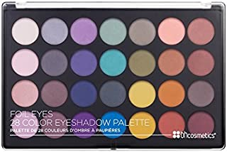 BH Cosmetics Foil Eyes 28 Color Matte Eyeshadow Palette, 1.58 Oz