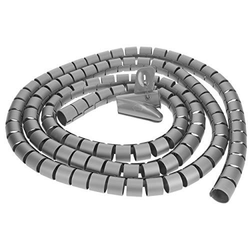mumbi Kabelspirale, flexibler Kabelschlauch, universal Kabelkanal, 2,5m - Ø 25mm, in Silber