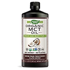 Nature's Way 100% Potency Pure Source MCT Oil from Coconut - Certified Paleo, Certified Vegan, Non-GMO Project Verified, Vegetarian, Gluten-Free, 30 FL Ounce (Packaging May Vary)
