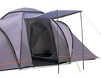 Tente de Camping portique Beta 6 vis-à-vis Tente Tunnel avec cabines de Couchage pour 6 Personnes Tente familiale extérieure avec Salon, étanche avec Colonne d'eau de 4000 mm