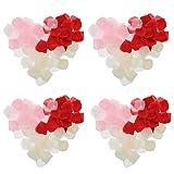 HEALLILY 21 Paquetes de Pétalos de Rosa de Seda para El Pasillo de La Dispersión Mesa Centros de Mesa de Fiesta Confeti para La Boda Decoración de La Cesta de La Muchacha de Las Flores