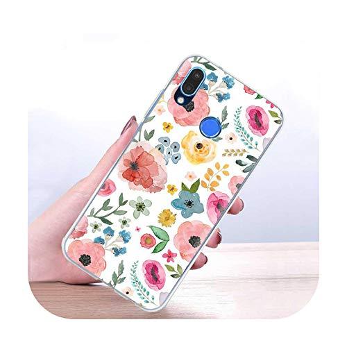 Funda de silicona para Huawei Y5p Y6p Y8s Y8p Y9a Y5 Y6 Y7 Y9 2019 Mate 10 20 Pro 20 Lite Back Cover Coque Fashion Flower Funda-S10-para Huawei Y8s