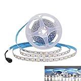 JOYLIT 24V Ruban à LED Blanc froid 6500K, 5 Mètres Flexible 300 LEDs 5050 SMD IP20 Non Étanche Bande LED