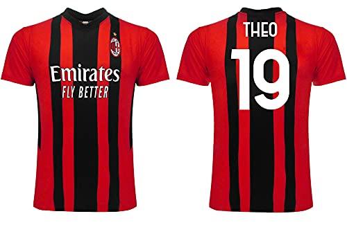 3R Theo Milan 2022 - Camiseta oficial réplica de Hernandez para adulto, niño 19 temporada 2021 2022, multicolor, 6 años