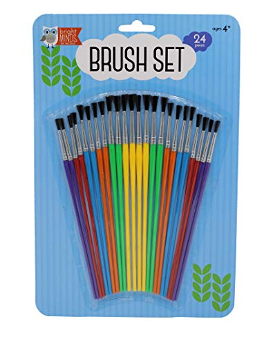 nicole Kids' Fun Brush Set 24 PC Use for All Paints Ages 6 to Adult