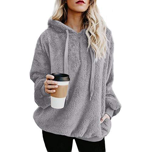 Vrouwen Warm Fluffy Hoodie Mode Dames Winter Top Hoodie Casual Sweatshirt Hooded Pullover Jumper S-5XL