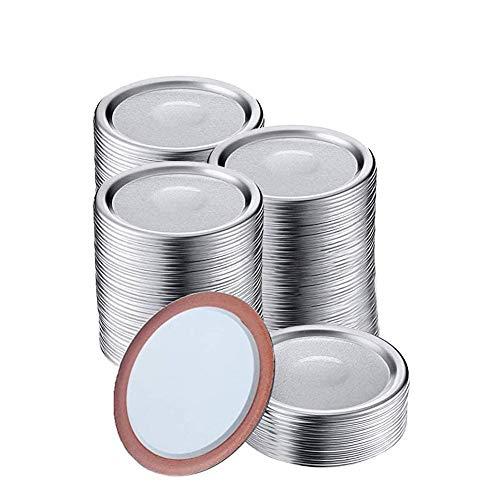 150 tapas de tarro Mason para frascos, enlatado boca regular Jar aluminio a prueba fugas y seguras tarros(tapas de 7 cm)