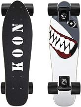KO-ON Skateboards 22 Inch Complete Mini Cruiser Skateboard for Beginner Boys and Girls (Shark)