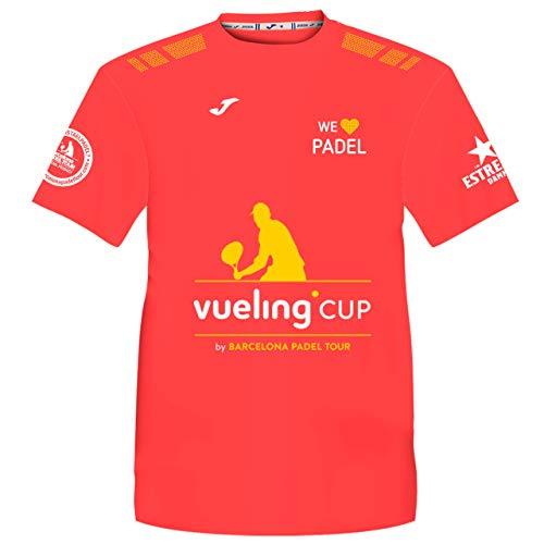 Camiseta Manga Corta Técnica Vueling Cup Hombre Coral Fluor