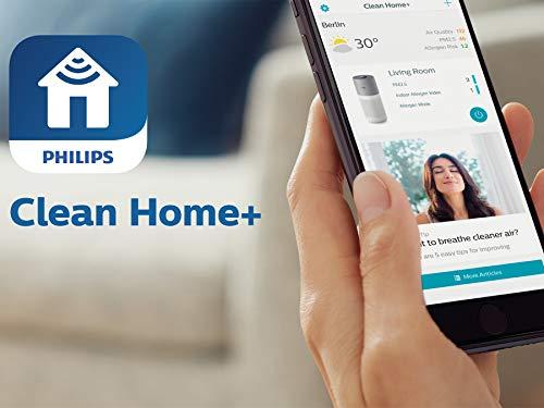 Philips Purificador de aire para hogar Serie 4000i AC4236/10 - Elimina el 99,97% de partículas, anillo de visualización de 4 colores, indicador inteligente, tamaño mediano y ultrasilencioso