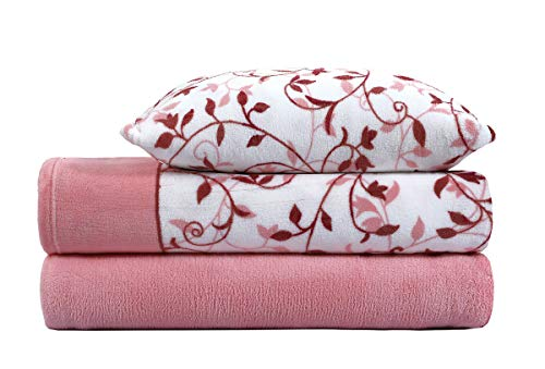 ADP HOME - Juego de sábanas coralina 240 GSM Gardenia (Maquillaje, Cama de 90 CM)