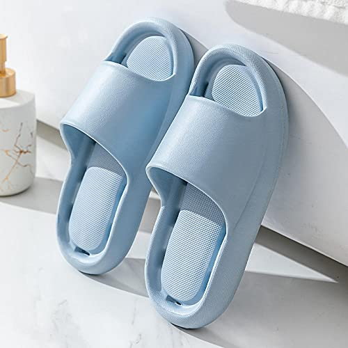 Kirin-1 Chanclas Mujer Verano 2019 Piscina,Summer Home Bathroom Desodorante Dry Seco Soft Bott Boust Soft Zapatillas De Fuga-36-37_Cielo Azul