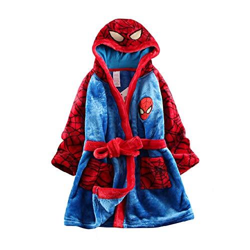 LINLIN Spiderman Pyjama Dress Up Toddler Pyjama Cadeau de Noël Doux Peignoir Grenouillère Doux Confortable Robe Grenouillère,Blue-Kids /3~4year /104cm