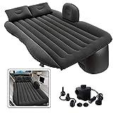 Qualimate Inflatable Car Bed Mattress with Two Air Pillow, Car Air Pump Air Sofa for Car Back Seat...