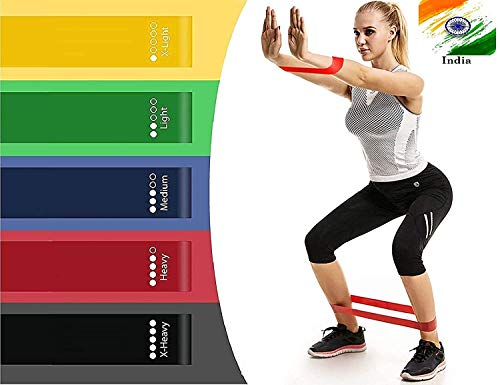 Koyet Resistance Loop Bands, Resistance Exercise Bands for Home Fitness, Stretching, Strength Training, Physical Therapy, Natural Latex Workout Bands, Pilates Flexbands