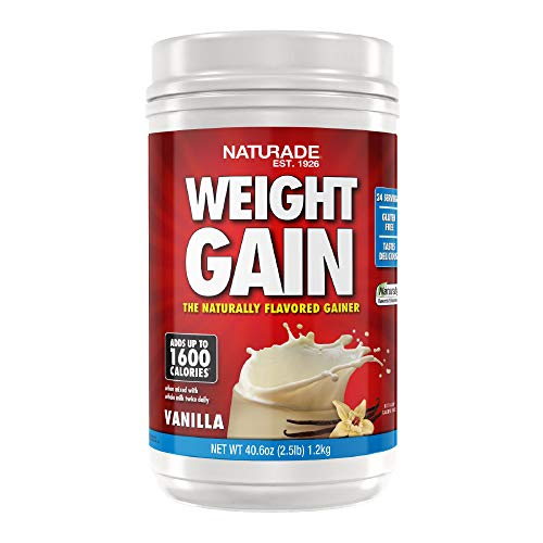 Naturade All-Natural Weight Gain Instant Nutrition Drink Mix, Vanilla, 40.6 Ounce