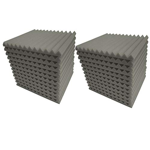 12pcs/24pcs Wedge Acoustic Panels Wall Studio Sound Proof Record Tiles Insulation 12 Triangular Grooves