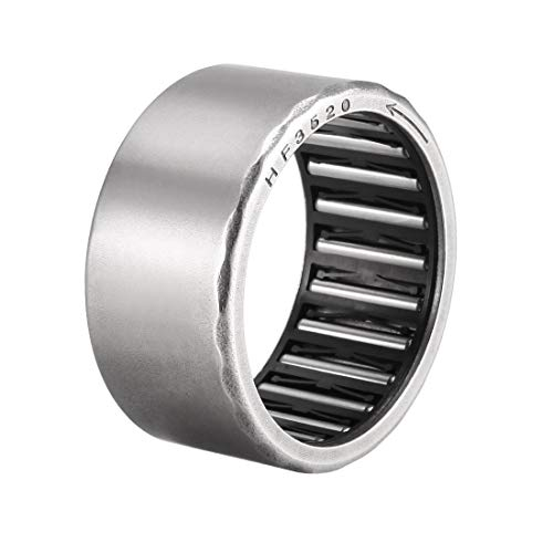 uxcell Needle Roller Bearings, 35mm Bore 42mm OD 20mm Width, Chrome Steel Needles Steel Cage One Way Clutch Bearing