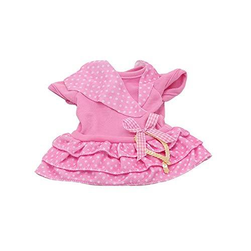 Snner 18inch Entzückende Mädchen Puppe / Baby Lebend Puppenkleidung Nettes Rosa Kleid Tupfen-Puppe Outfits- Geschenk Für Mädchen