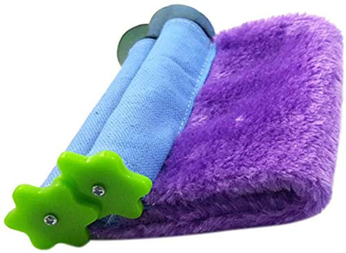 Acidea Pet Bed Sleeping Nest, Hammock Mini Winter Warm House for Pet Bird Parrot Squirrel Hanging Bed Toy (S, Purple)