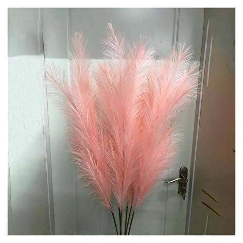 Hzdmfgs Künstliche Blumen 122cm Faux Pampas Gras Dekor Wolke Gras Künstliche Phragmiten Australien Vase Dekorationen Gefälschte Schilf Pflanzen ewige Blumen (Color : 1pc Pink Reed)