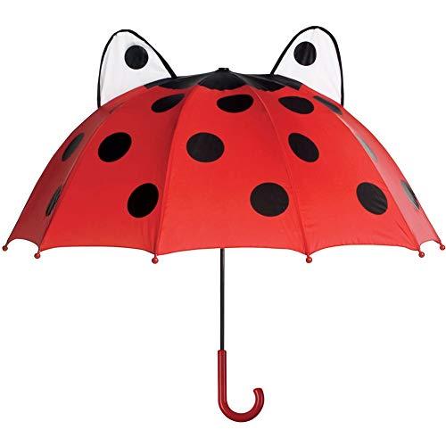Toysmith Marienkäfer-Regenschirm, Kunststoffrippen, leicht zu greifender Griff und Handgelenkschnur, öffnet sich bis zu 66 cm