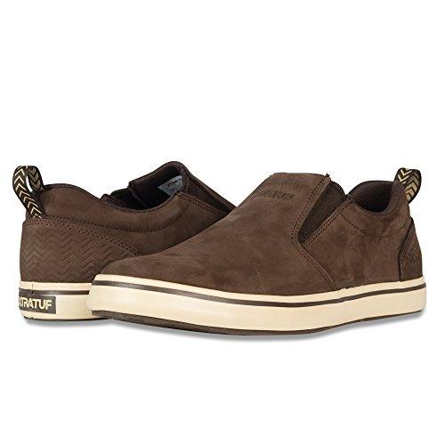 XTRATUF Sharkbyte Men's Nubuck Leather Deck Shoes, Chocolate (22501), 7, Men's