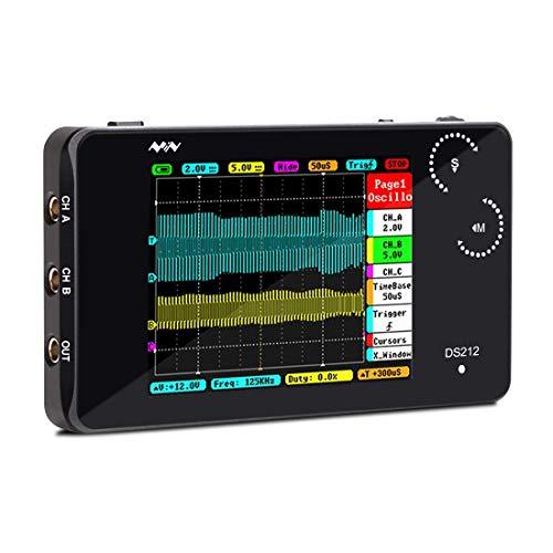 Signstek DS212 ミニキッ ポケットサイズ デジタル オシロスコープ USBインターフェイス タッチパネル操作 ストレージ 8MBメモリ 1MHz 10Mps メタルシェル