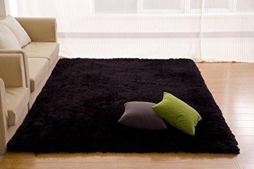 Fabelia Whirly - Alfombra (200 x 290 cm), color negro