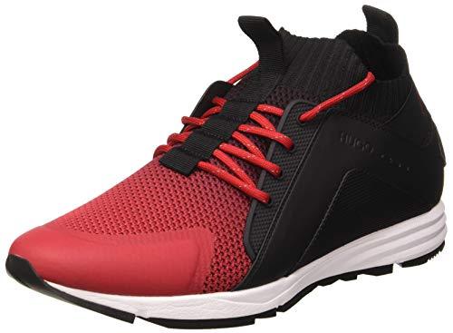 HUGO Herren Hybrid_Runn_kndg Sneaker, Rot (Open Red 640), 39 EU